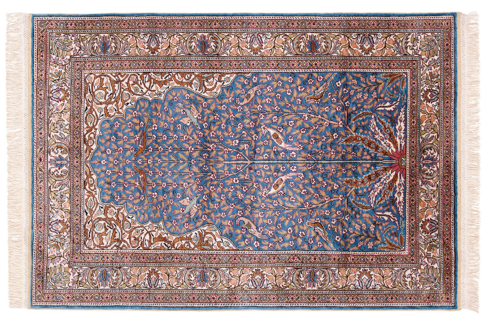 Turkish Silk Kayseri Rug